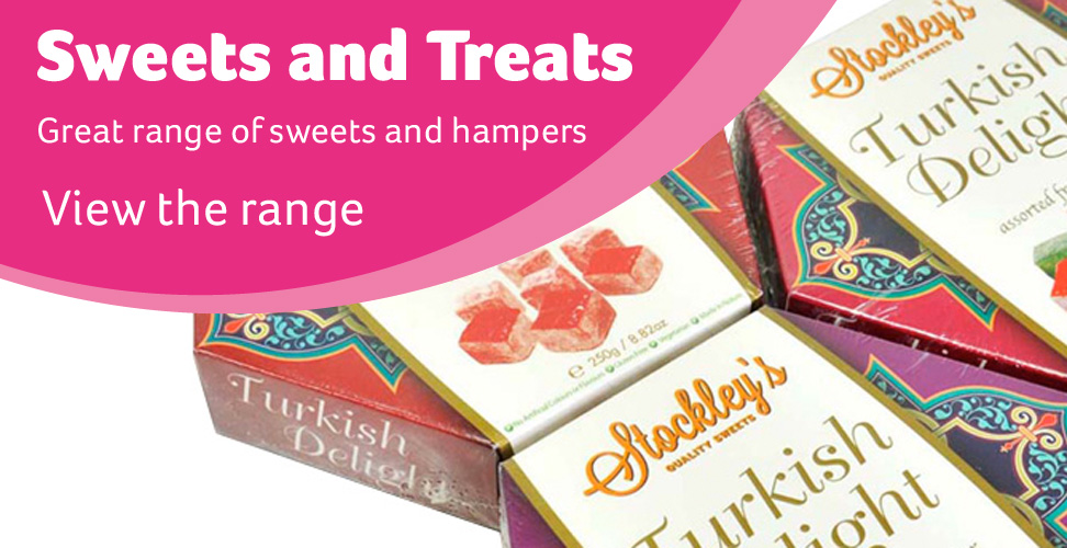 Great range of sweets and hampers